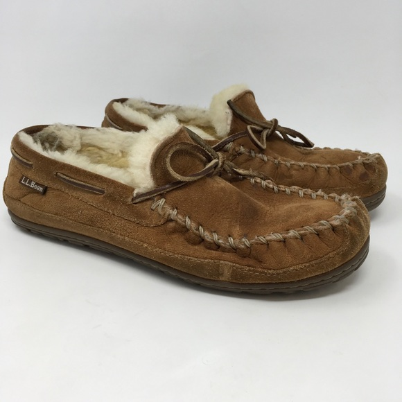 Ll Bean Shoes  Ll Bean Womens Shearling Lined Slippers -8909